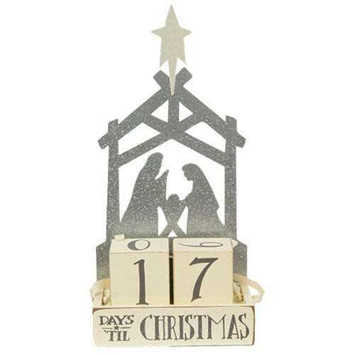 Nativity Block Christmas Countdown