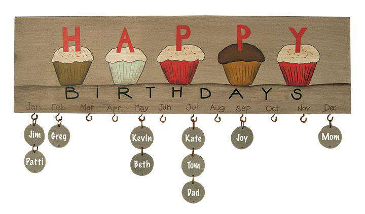 *Cupcake Birthday Calendar - The Fox Decor