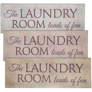 *Laundry Room Hanging Sign Large 3 Asstd.