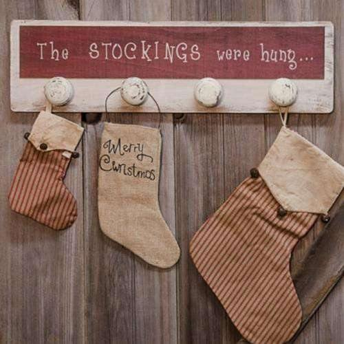 The Stockings Were Hung Sign - Stocking Hanger - The Fox Decor