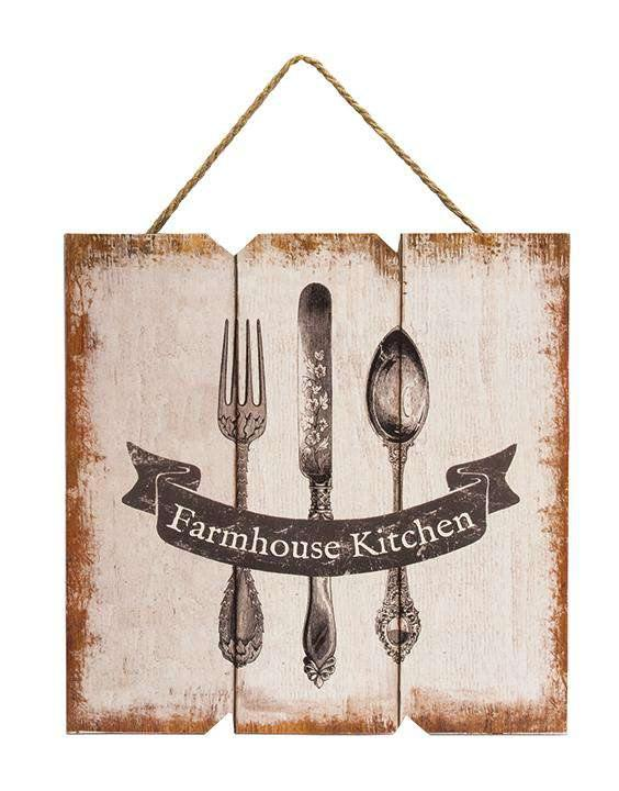 Farmhouse Kitchen Sign, Rustic Farmhouse Kitchen Hanger