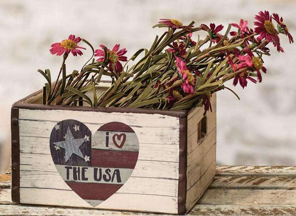 I Love the USA Ceramic Crate