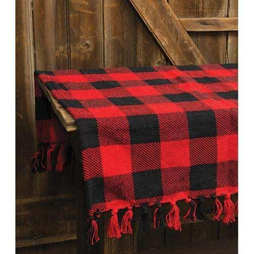 Red & Black Buffalo Check Table Square