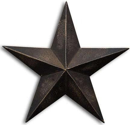 Antique Black Barn Star, 12""