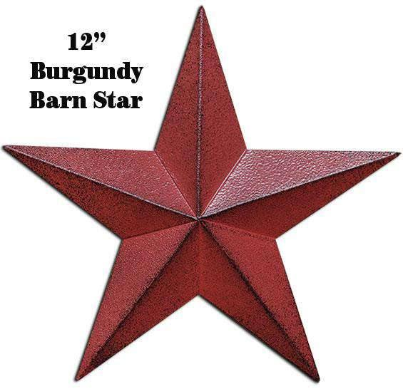 Burgundy Barn Star - 12