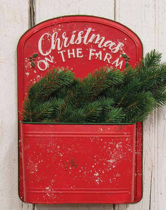 Christmas on the Farm Red Post Box