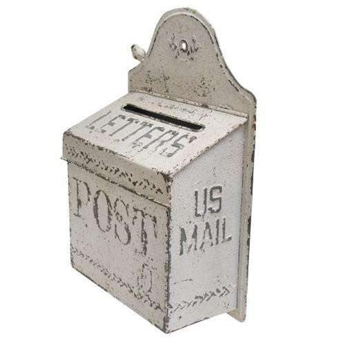 Vintage White US Mail Post Box
