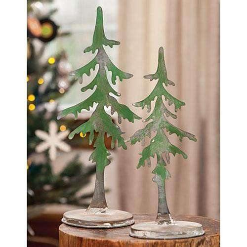 Small Metal Pine Tree