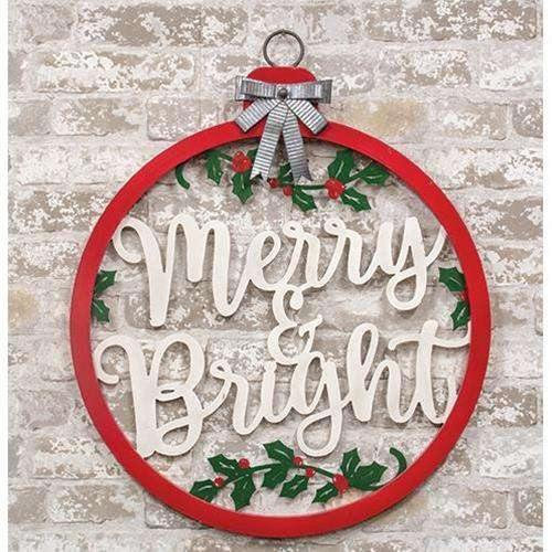 Merry and Bright Bulb Sign