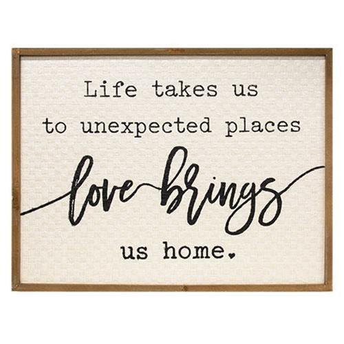 Love Brings Us Home Wall Sign