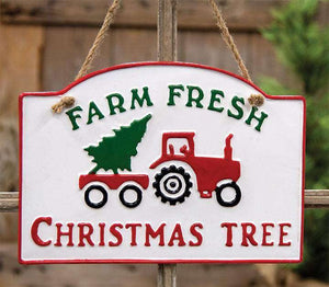 Farm Fresh Christmas Tree Metal Sign