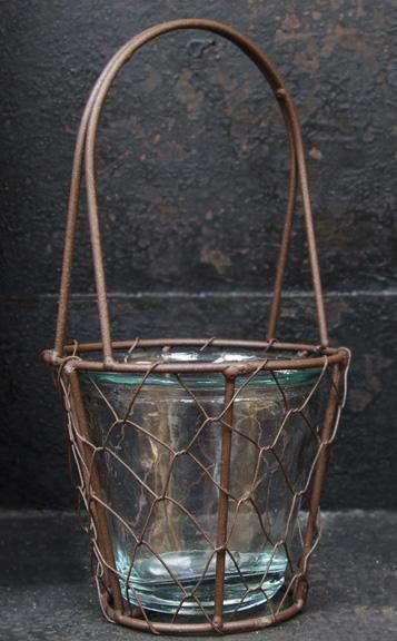 Wire Basket w/Glass