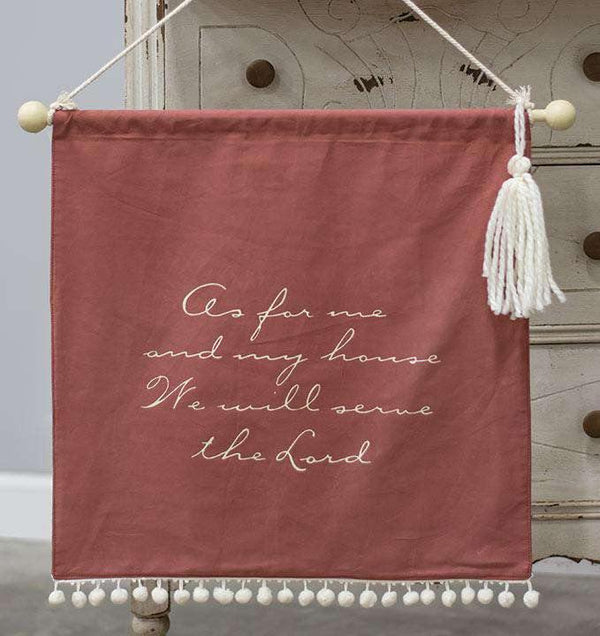As For Me and My House Fabric Wall Hanging