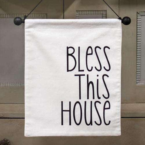 Bless This House Fabric Wall Hanging