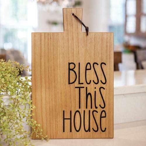 Bless this House Wooden Cutting Board Wall Hanging