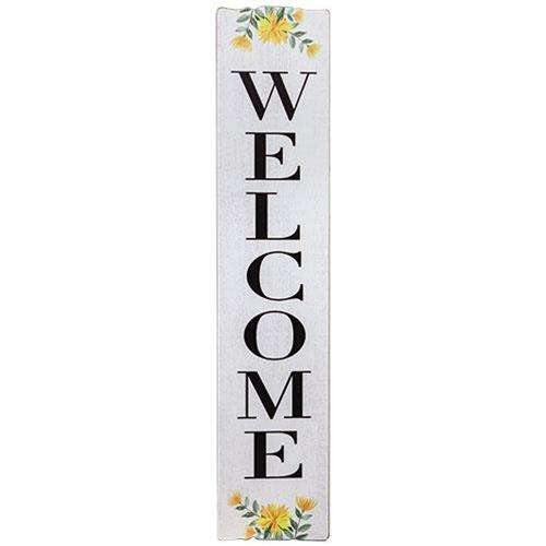 Spring Florals Welcome Sign