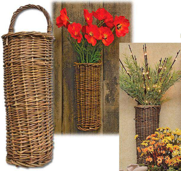 "Natural Willow Basket 12.5"" - The Fox Decor"