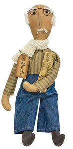 Grandpa Martin Doll Stuffed primitive doll with a weighted base