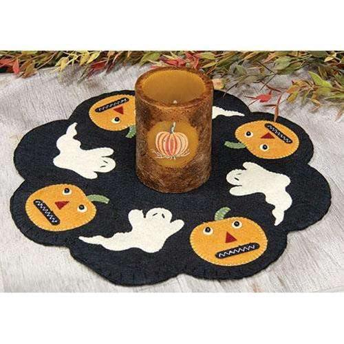 Ghost and Pumpkin Felt Mat