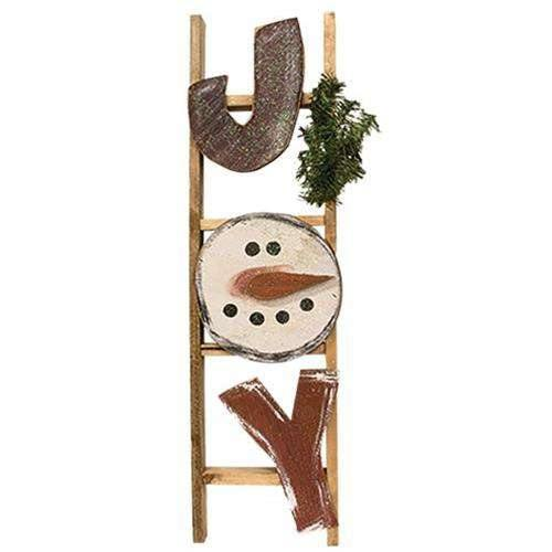 Distressed Snowman Joy Ladder