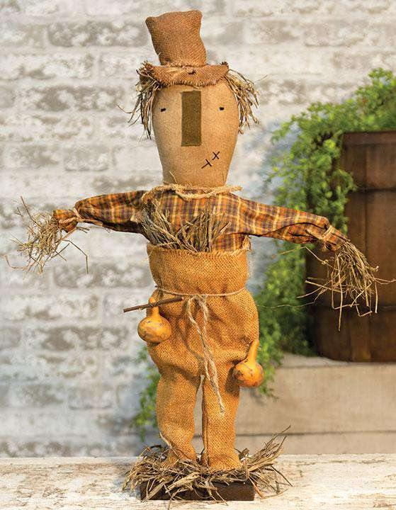 Slim Jim Scarecrow Doll on Base