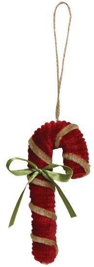 Chenille Candy Cane Ornament