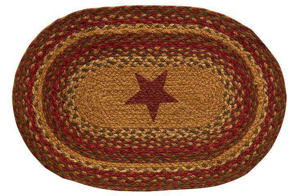 Cinnamon Star Braided Placemats set of 4