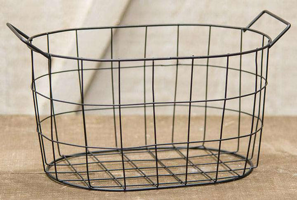 Black Wire Oval Basket, 8.75x5.75