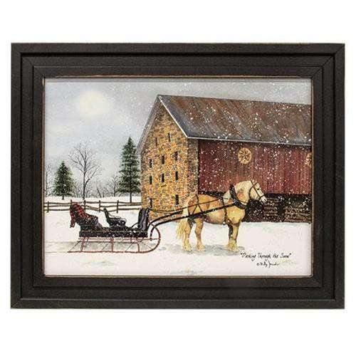 Dashing Through the Snow Framed Print, 12x16