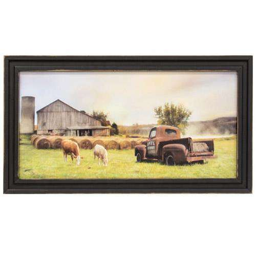 Tioga Country Farmland Framed Print, 9x18 - The Fox Decor