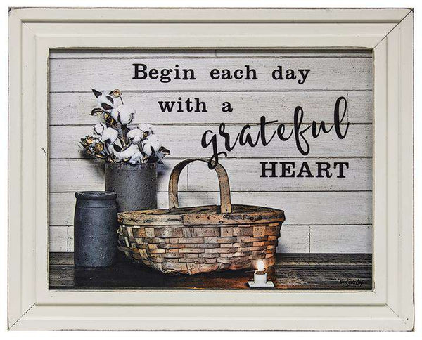 Begin Each Day Framed Print - The Fox Decor
