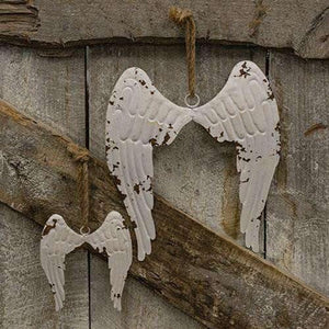 Hanging Shabby Chic Angel Wings, Large