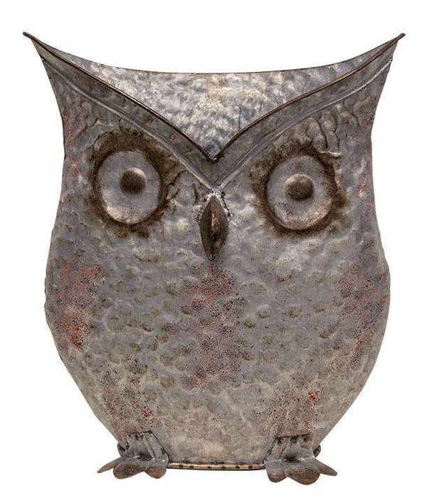 "Aged Owl Bucket, 13.5"" - The Fox Decor"