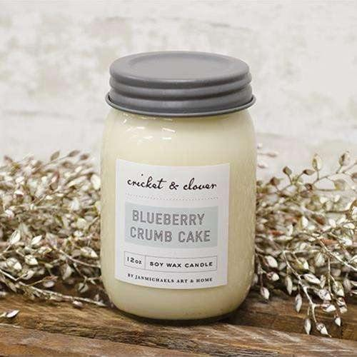 Blueberry Crumb Cake Jar Candle 12 oz