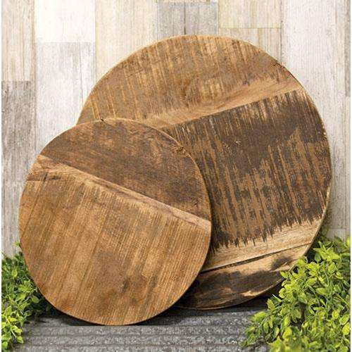 2/Set Wooden Round Risers - The Fox Decor