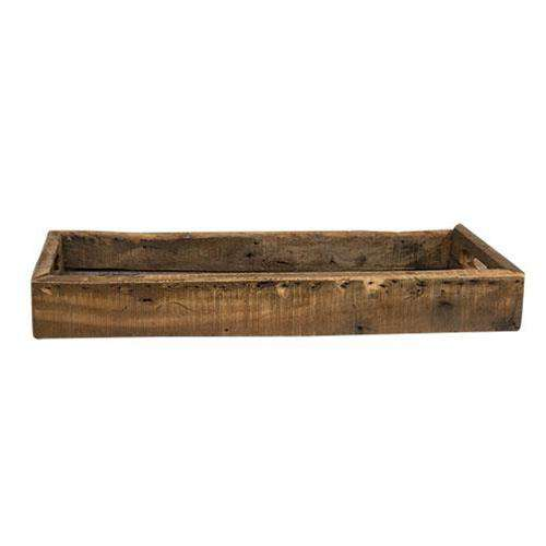 Weathered Wood Rectangle Tray online