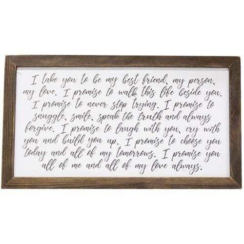 My Vow Framed Print, 17x31