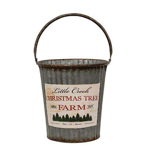 2/Set, Little Creek Galvanized Pails - The Fox Decor