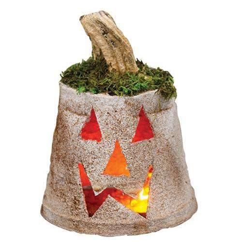 Wax Dipped Light Up Pumpkin, White