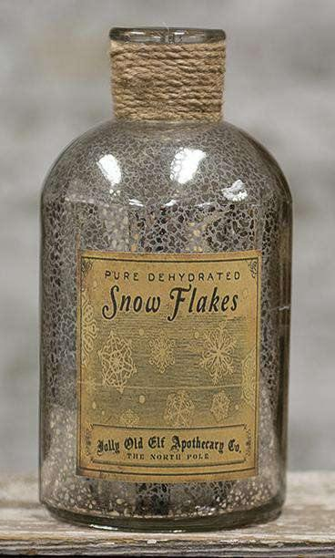 Snowflakes Silver Bottle, 8x4