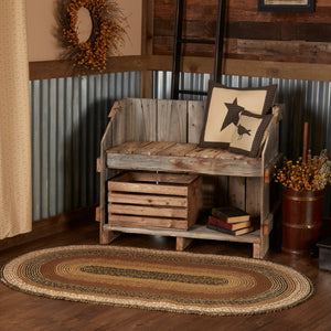 Kettle Grove Jute Oval Braided Rug VHC Brands