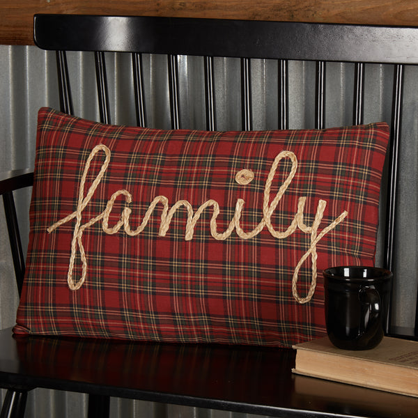 Tea Star Family Country Pillow 14x22