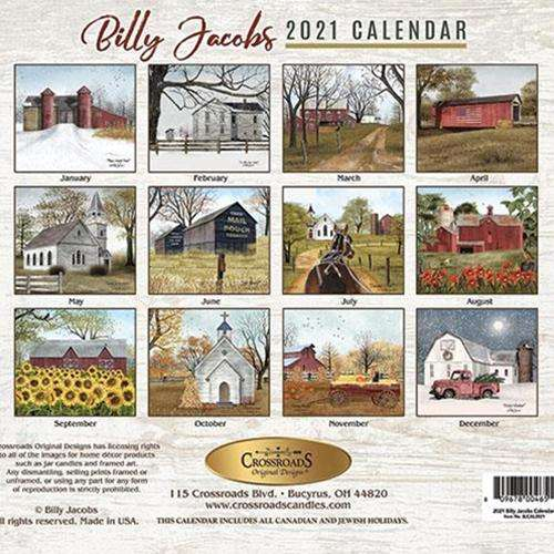 2021 Billy Jacobs Wall Calendar