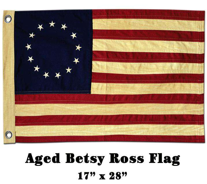 "Aged Betsy Ross Flag, 28"" Flags CWI+"