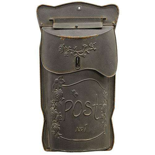 Aged Black Post Box Mail and Post Boxes CWI+