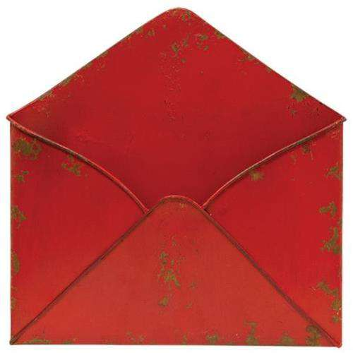 Aged Red Envelope Pocket Mail and Post Boxes CWI+