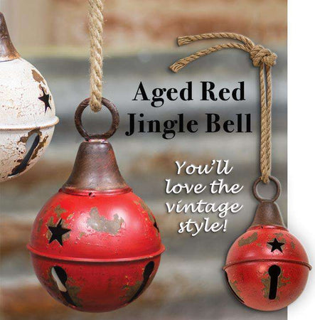 "Aged Red Jingle Bell, 4"" Bells CWI+"