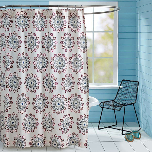 "Antigua Shower Curtain 72""x72"" curtain VHC Brands"