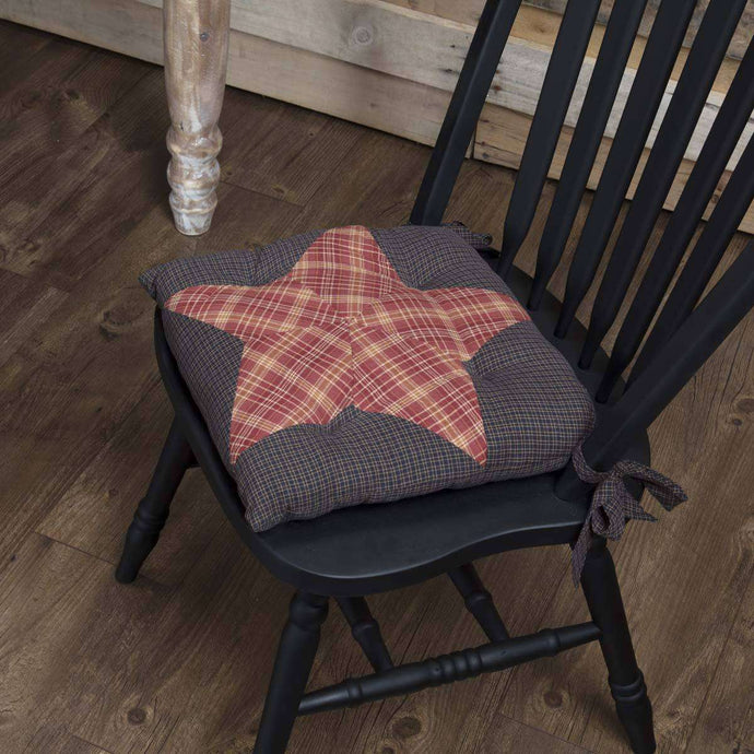 Arlington Chair Pad Patchwork Star Chair Pad VHC Brands