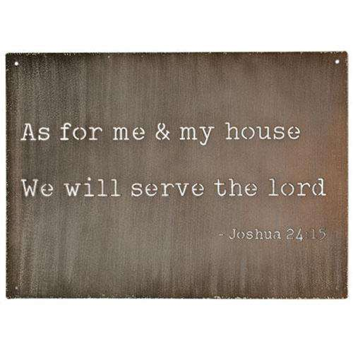 As For Me and My House Cutout Metal Sign Metal Signs CWI+